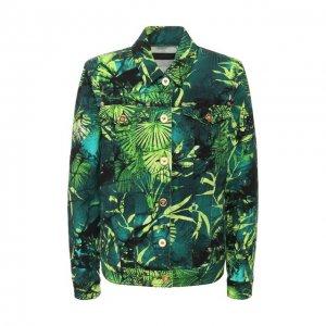 Джинсовая куртка Versace. Цвет: зелёный