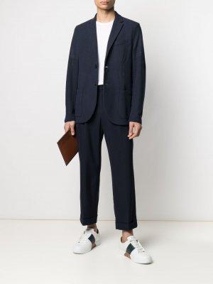 Однобортный пиджак Harris Wharf London. Цвет: синий