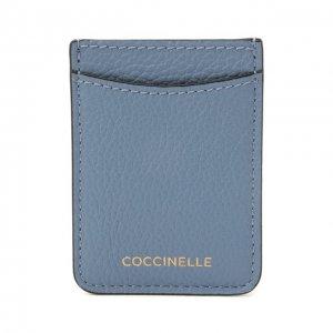 Кожаный футляр для кредитных карт Coccinelle. Цвет: синий