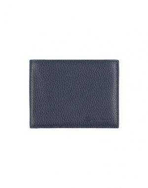 Бумажник SANTONI. Цвет: темно-синий