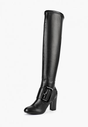 Ботфорты LOST INK WF DEB BUCKLE DETAIL LONG BOOT. Цвет: черный