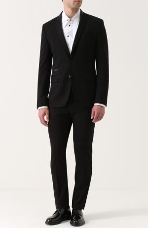 Костюм из вискозы с пиджаком на двух пуговицах Philipp Plein. Цвет: черный