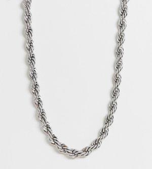 Серебристое короткое массивное ожерелье в виде цепочки inspired эксклюзивно для ASOS Reclaimed Vintage. Цвет: серебряный