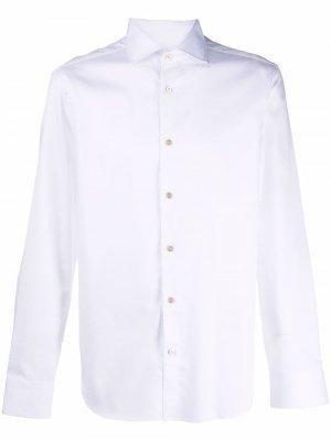 Plain button-down shirt Boglioli. Цвет: белый