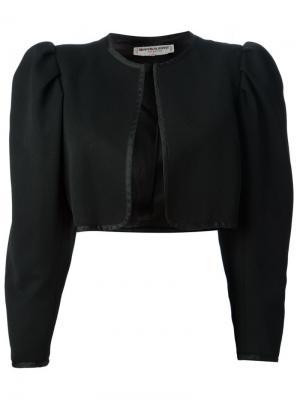 Укороченный пиджак-болеро Yves Saint Laurent Pre-Owned. Цвет: черный