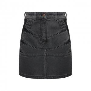 Джинсовая юбка Kenzo. Цвет: серый