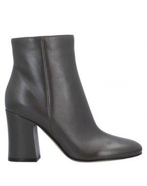 Полусапоги и высокие ботинки GIANVITO ROSSI. Цвет: стальной серый