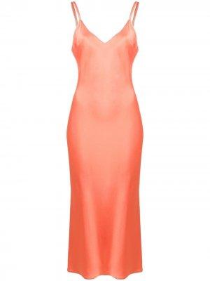 Платье-комбинация Patrizia Pepe. Цвет: розовый