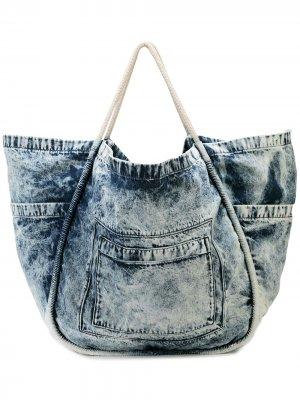 Большая джинсовая сумка-тоут Proenza Schouler