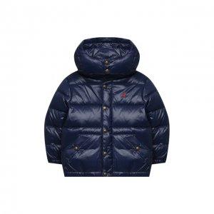 Пуховая куртка Polo Ralph Lauren. Цвет: синий