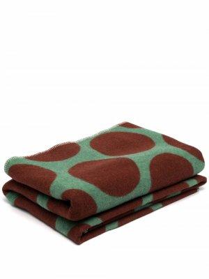 Одеяло в горох colville. Цвет: зеленый