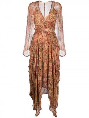 Paisley embroidered midi dress Mes Demoiselles. Цвет: нейтральные цвета