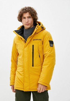 Куртка утепленная Urban Fashion for Men UFMRW2AJ125. Цвет: желтый