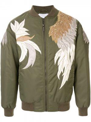 Куртка-бомбер с аппликацией Ports V. Цвет: зеленый