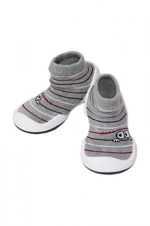Носочки-ботиночки Komuello. Цвет: серый