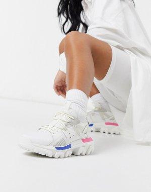 Белые кроссовки на массивной подошве CAT Raider-Белый Footwear