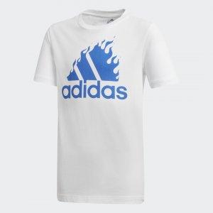 Футболка для фитнеса Graphic Performance adidas. Цвет: белый