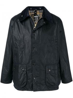 Куртка с контрастным воротником Barbour. Цвет: синий