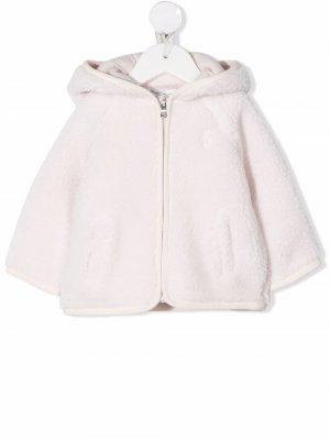 Hooded faux-shearling coat Ralph Lauren Kids. Цвет: розовый