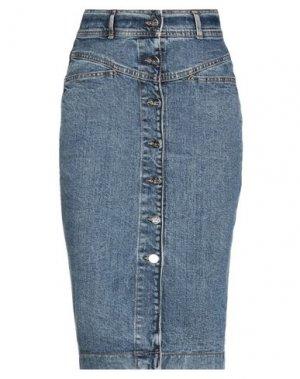 Джинсовая юбка KAOS JEANS. Цвет: синий