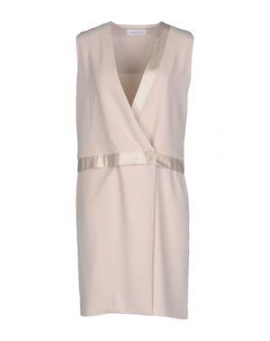 Короткое платье ANNA RACHELE. Цвет: бежевый