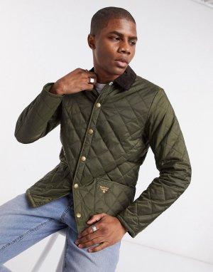 Стеганая куртка оливкового цвета Starling-Зеленый цвет Barbour Beacon