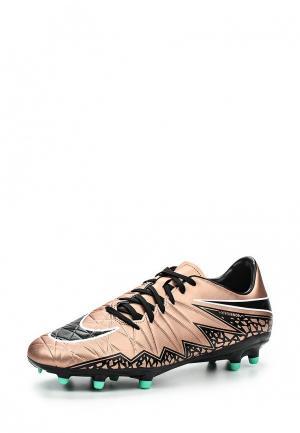 Бутсы Nike NI464AMHBR58. Цвет: золотой