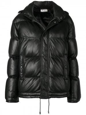 Куртка-пуховик свободного кроя Saint Laurent. Цвет: черный