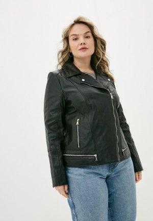 Куртка кожаная Le Monique IRAM010LS9. Цвет: черный
