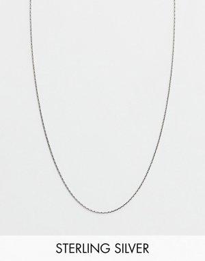 Короткая серебряная цепочка -Серебряный ASOS DESIGN