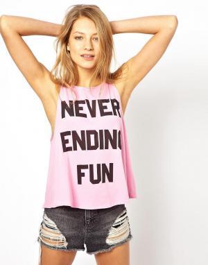 Майка Never Ending Fun Cassidy Wildfox. Цвет: sunshine
