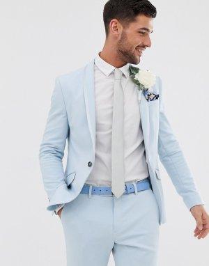 Голубой приталенный пиджак Wedding River Island
