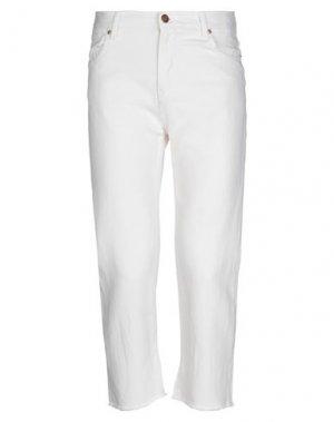 Джинсовые брюки 2 MEN. Цвет: слоновая кость