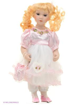 Кукла фарфор Мелани 16 дюймов Angel Collection. Цвет: розовый