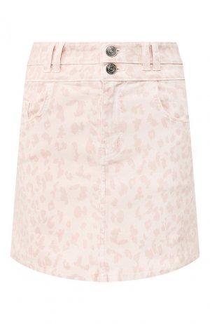 Джинсовая юбка Current/Elliott. Цвет: розовый