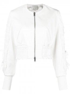 Куртка-бомбер с присборенными рукавами 3.1 Phillip Lim. Цвет: нейтральные цвета