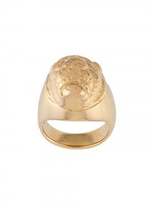 Позолоченный перстень Lions Head VICTORIA STRIGINI. Цвет: золотистый