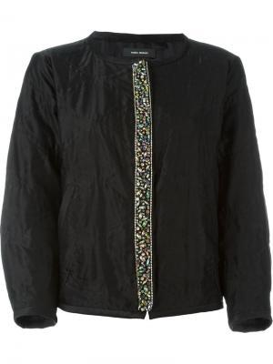 Декорированная куртка-бомбер Isabel Marant. Цвет: чёрный