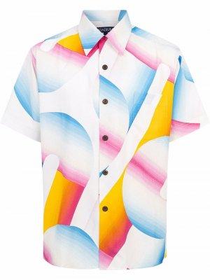 Рубашка с короткими рукавами из коллаборации Erin Garcia Parariso Stadium Goods. Цвет: разноцветный