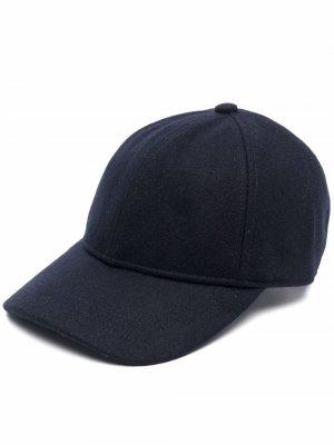 Coopworth knitted baseball cap Barbour. Цвет: синий