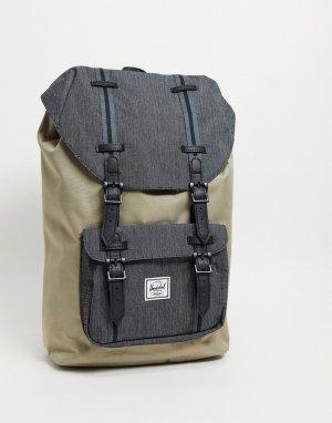 Светло-бежевый рюкзак . Little America-Нейтральный Herschel Supply Co