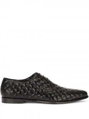 Стеганые туфли дерби Dolce & Gabbana. Цвет: черный