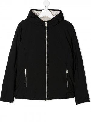 Двусторонняя куртка с капюшоном Ciesse Piumini Junior. Цвет: черный
