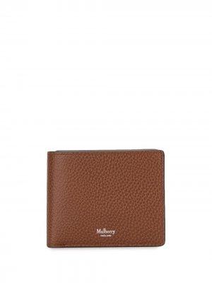 Бумажник из зернистой кожи Mulberry. Цвет: коричневый