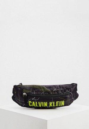 Сумка поясная Calvin Klein Performance. Цвет: черный