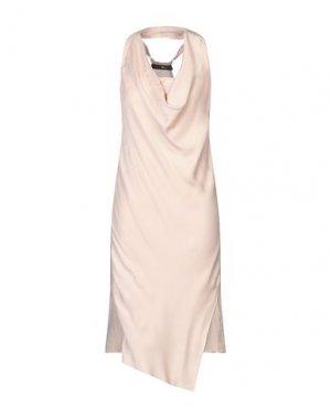 Платье до колена FRANCESCA PICCINI. Цвет: розовый