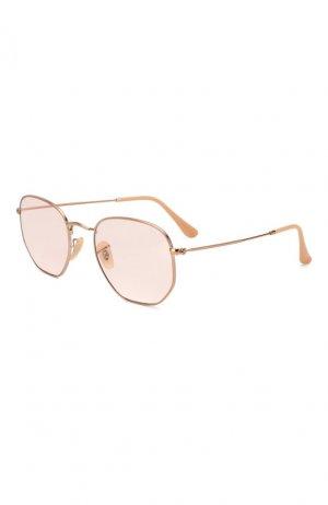 Солнцезащитные очки Ray-Ban. Цвет: розовый