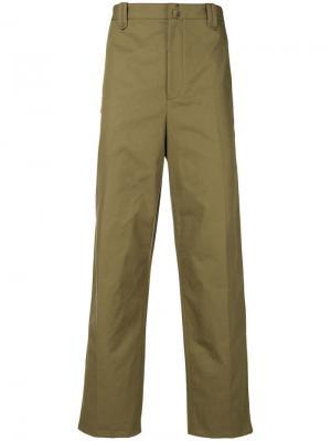 Классические брюки-чинос Lanvin. Цвет: зеленый