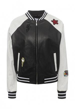 Куртка кожаная Iceberg IC461EWOYT49. Цвет: черный