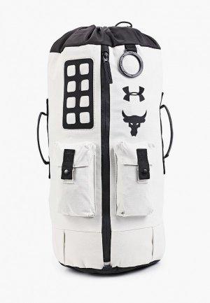 Рюкзак Under Armour UA Project Rock 60 Gym Bag. Цвет: белый